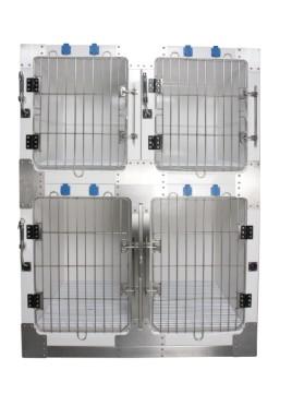 "Toex Fiberglass Modular Dog Cage Medium KA-510M (26""W x 28""D x 32""H)"