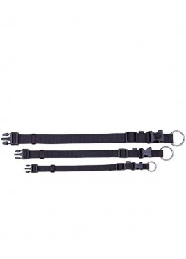 Trixie Classic Collar Nylon strap, fully adjustable, S-M, Black