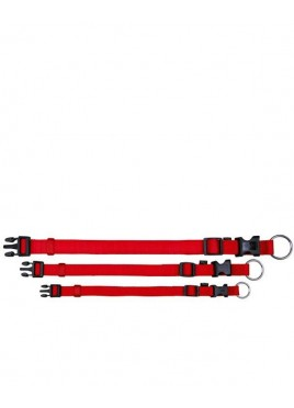 Trixie Classic Collar Nylon Strap, Fully Adjustable, S-M, Red