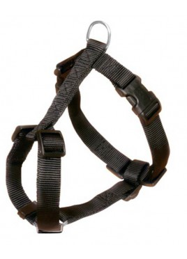 Trixie Classic H-Harness Nylon strap, fully adjustable L-XL, Black