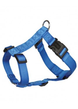Trixie Classic H-Harness Nylon Strap, Fully Adjustable M-L, Blue