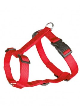 Trixie Classic H-Harness Nylon strap, fully adjustable M-L, red