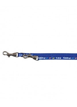 Trixie Puppy Collar with Lead Nylon with motif print blue