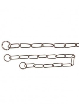 Trixie Stainless Steel Long Link Choke Chain Dog