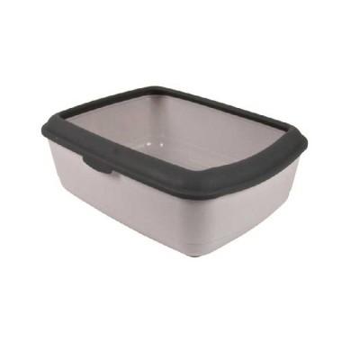 Trixie Classic Easy Cat Litter Tray Grey (Lxbxh - 19x15x6 Inch)
