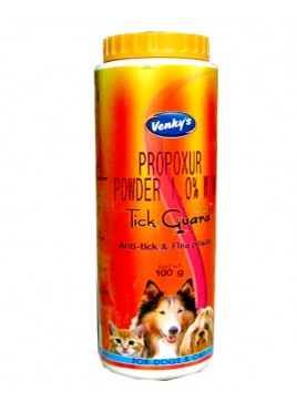 Venkys Pet Tick Guard Flea Powder Dog And Cat 100gm
