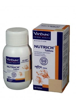 Virbac Nutrich Vitamin Supplement 60 Tab